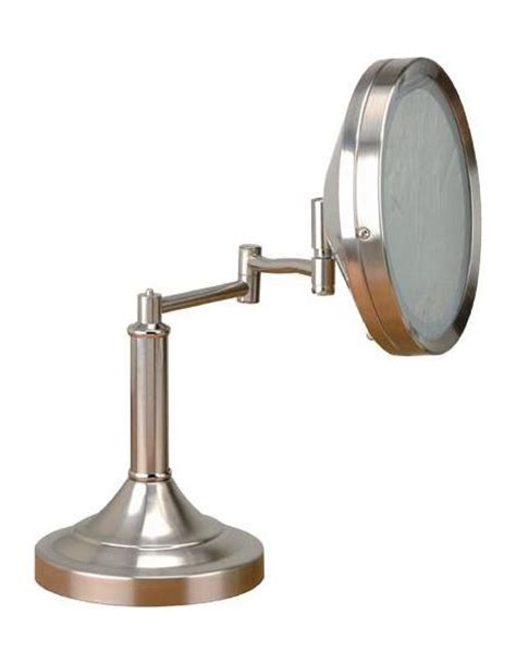 swing arm vanity mirror lite source inc steel swing arm lighted vanity mirror