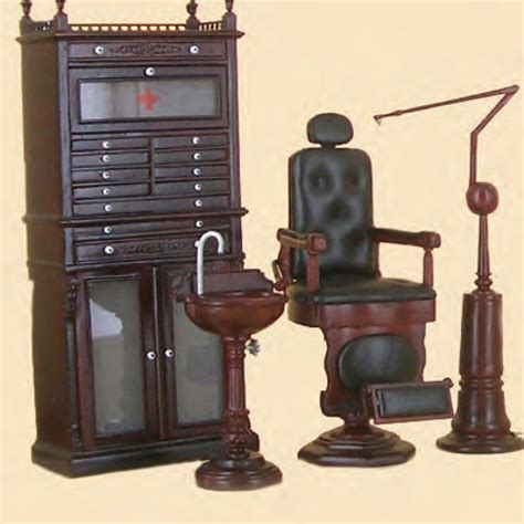 bespaq dollhouse miniature furniture doctor dentist dental medical office set miniatures