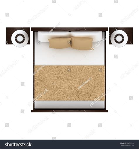how to be on top in bed bed top view isolated on white background stock photo