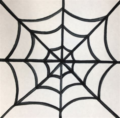 drawing web how to draw a spider hanging from a web www imgkid