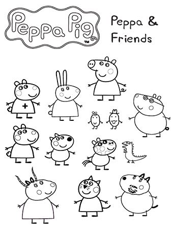 Buku Peppa Pig peppa pig para colorear los mejores 161 dibujos gratis