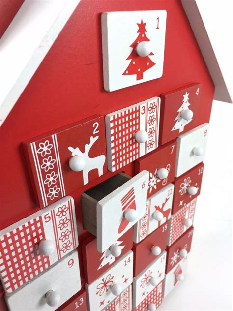 Wooden Advent Calendars With Drawers by Advent Calendar Wooden House Design