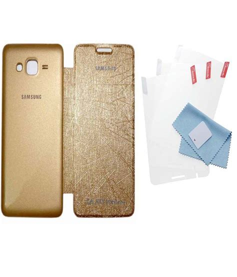 Flipcover View Samsung Grand Prime cell mates gold flipcover for samsung galaxy grand prime