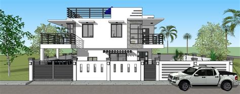 300 Sqm House Design by With Roof Deck Amp Pool House Designer Amp Builder