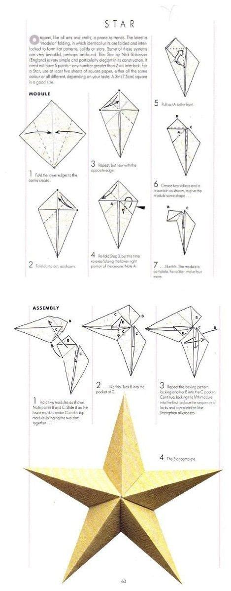 How To Make A Big Origami - sterne papiersterne and origami on