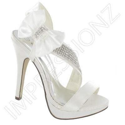 wedding shoes white pink satin heels womens
