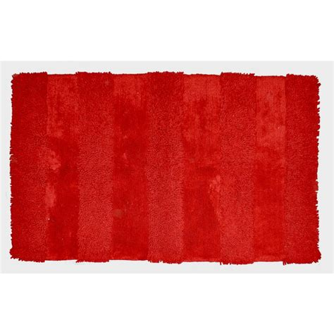 rugs with red accents shop allen roth rectangular red solid tufted cotton