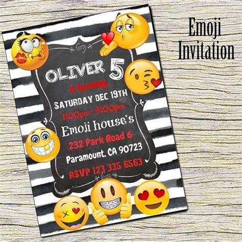 Emoji Birthday Invitations Printable