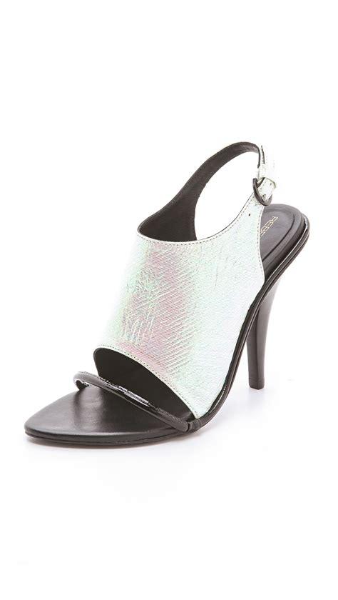 Sendal Wanita Sendal Gucci High Heels White Black lyst minkoff barista high heel sandals in white
