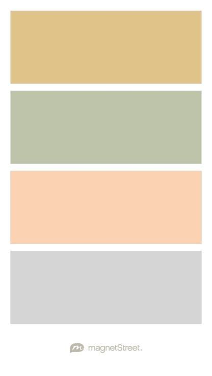 gold and gray color scheme gold sage peach and silver wedding color palette