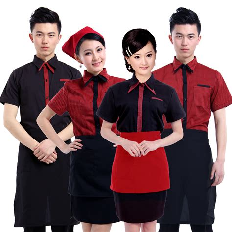 design cafe uniform create a good impression on customers mind for your