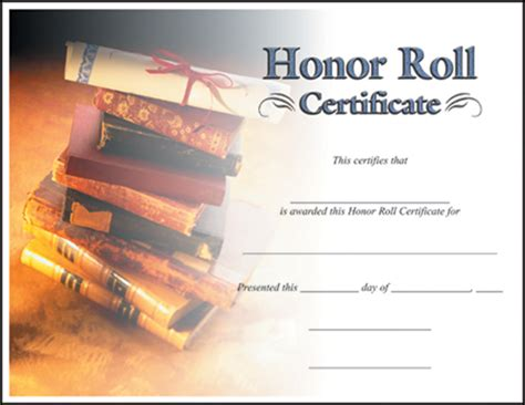 honor roll certificate template rising catalog certificates