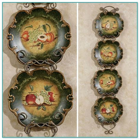 Decorative Fruit Wall Plates by Decorative Plate Stands Easel
