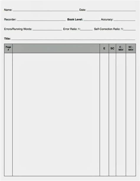 blank running record template search results calendar 2015