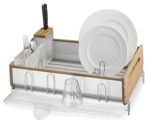 Dish Rack Images by Simplehuman Bamboo Trim Dish Rack Modern Dish Racks