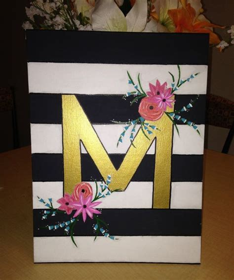 Letter For Painting Initial Canvas Painting By Craftsbymnicole On Etsy 20 00 Craft So Muhfuckas Wanna