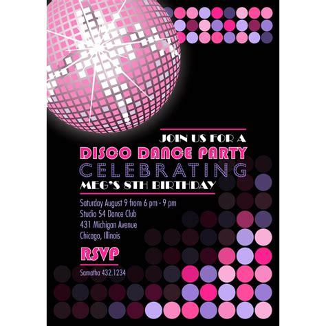 disco invitation cards google search mc birthday cards