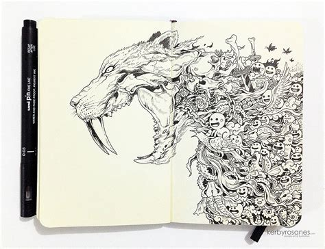 kerby rosanes sketchbook impressively detailed pen doodles by kerby rosanes bored