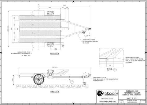diy hard floor cer trailer plans motorcycle trailer plans 3 bike 7 x5 diy motobike