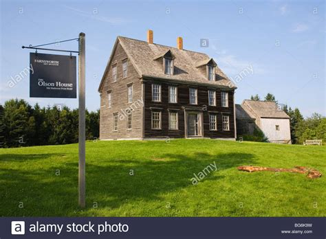 cushing house olson house andrew wyeth historic home farnsworth museum cushing stock photo royalty