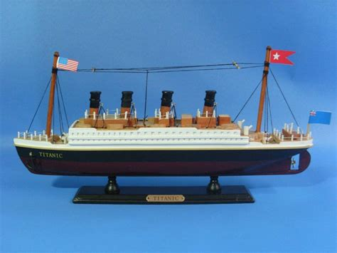titanic ship or boat buy wooden rms titanic model cruise ship 14 inch models