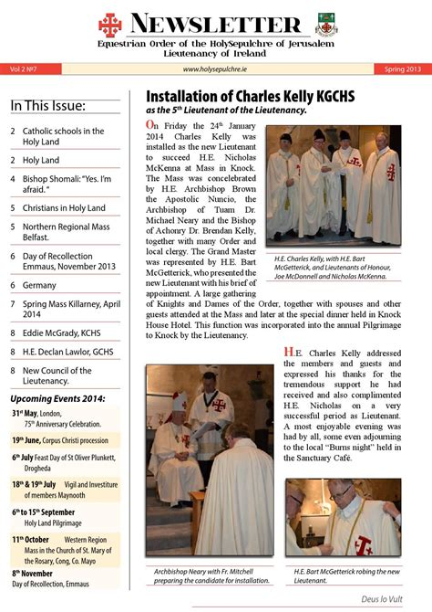 may 2 2013 by charles roberds issuu equestrian order of the holy sepulchre of jerusalem