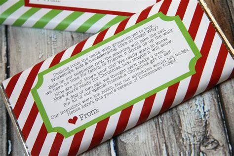 candy bar wrapper holiday printable our best bites