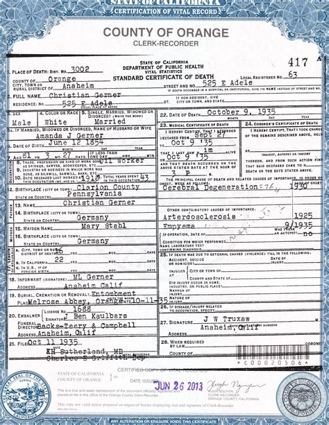 Orange County California Vital Records Birth Certificate Best Photos Of Blank Official Certificate 2013 New York State Marriage License