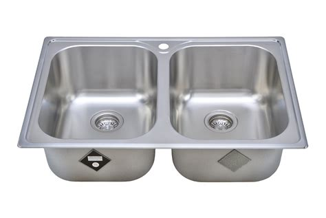 Wells Sinkware 18 Gauge Double Bowl Topmount Stainless Kitchen Sink Expression