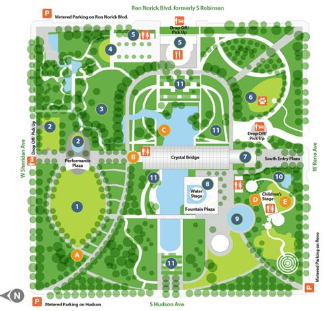myriad botanical gardens oklahoma city map myriad botanical gardens