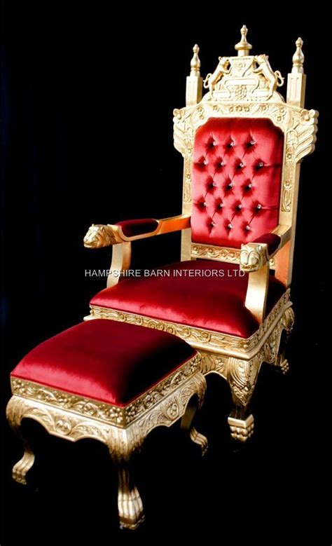 Royal Dining Room Sets by A Tudor Royal Throne Chair Gold And Red Velvet Hampshire