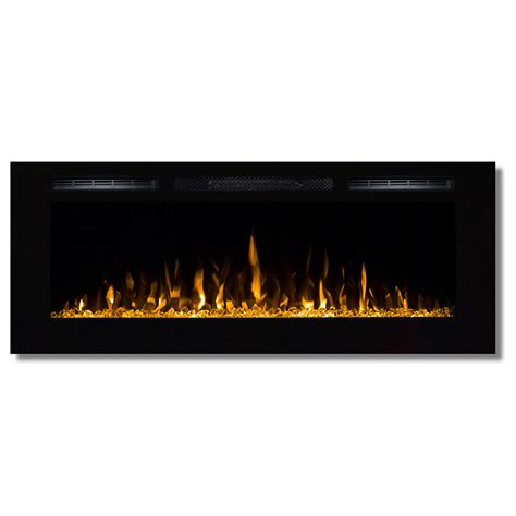 Recessed Electric Fireplace Fusion 50 Inch Built In Ventless Heater Recessed Wall Mounted Electric Fireplace