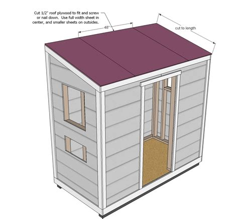 ana white wood shed plans