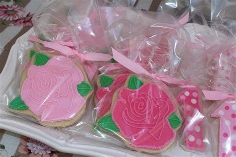 rose themed party supplies rose and 1 cookie favors addey s 1st bday party