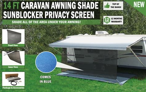 awning shade screen 14 ft caravan awning shade sun blocker privacy screen suit fits all