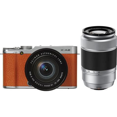 kamera fujifilm xa2 kit 16 50mm fujifilm x a2 16 50mm 50 230mm kit brown mirrorless