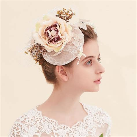 Wedding Hair Accessories Derby by Vintage Fashion Wedding Bridal Faux Silk Flower
