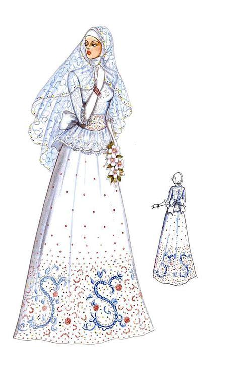 sketchbook terbaru busana pengantin two pieces yang terdiri atas rok model