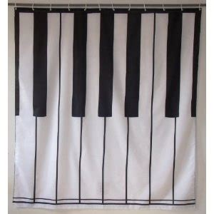 piano shower curtain piano keys shower curtain bathrooms pinterest