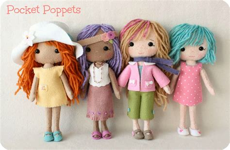 Po Flat Vnc Neww Arrival complete set of pdf patterns for pocket poppet doll and