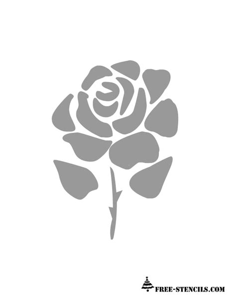free printable rose stencils