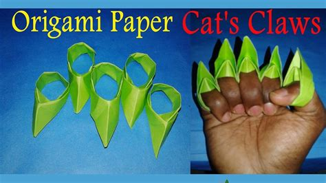 How To Make A Paper Claw Step By Step - papier how to make a paper cats claws easy step by step