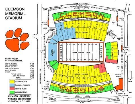 clemson seating chart valley photoaltan34 clemson football schedule 2007