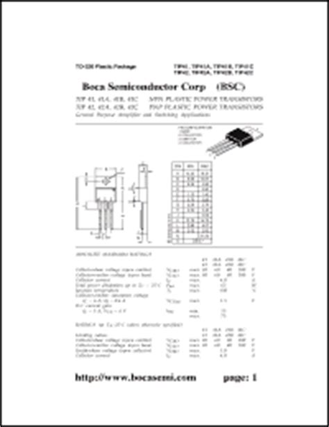 datasheet transistor tip41 transistor tip42c datasheet 28 images tip42c datasheet pdf inchange semiconductor company