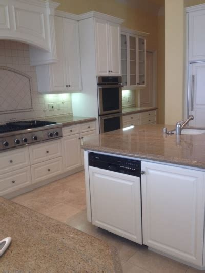 cabinet painting san diego painting cabinets throughout a kitchen and family room in