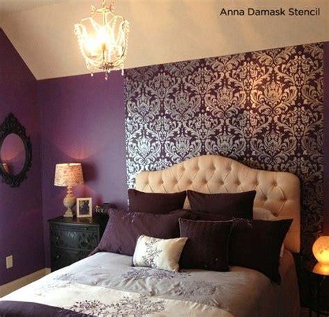 deep purple bedroom ideas love this deep purple bedroom uses the anna damask