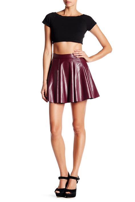 necessary objects faux leather skater skirt nordstrom rack
