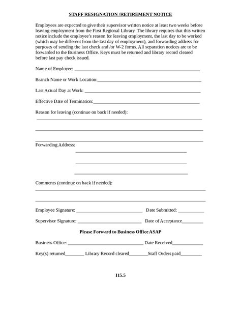 two week notice template 2017 miscellaneous forms fillable printable pdf forms