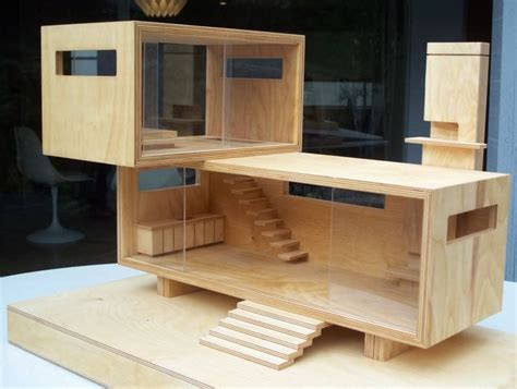 dollhouse modern wood modern dollhouse wooden toys doll h 3 pinterest