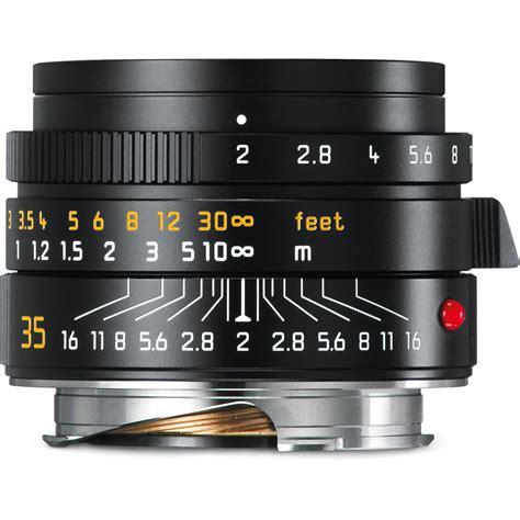 35mm leica leica summicron m 35mm f 2 asph lens black 11673 b h photo